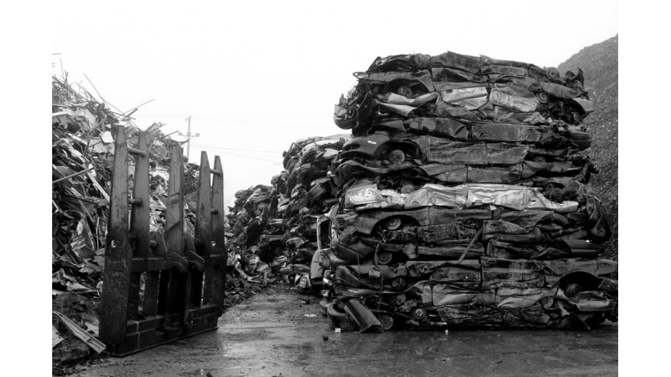 Brochette d'impacts, Récupération de fer, Pierreville 2012