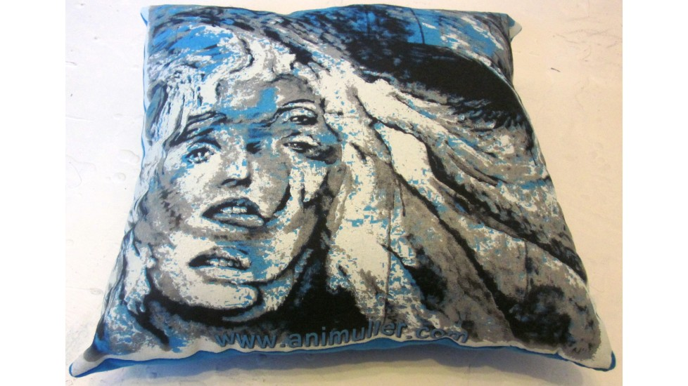 Coussin bleu aqua